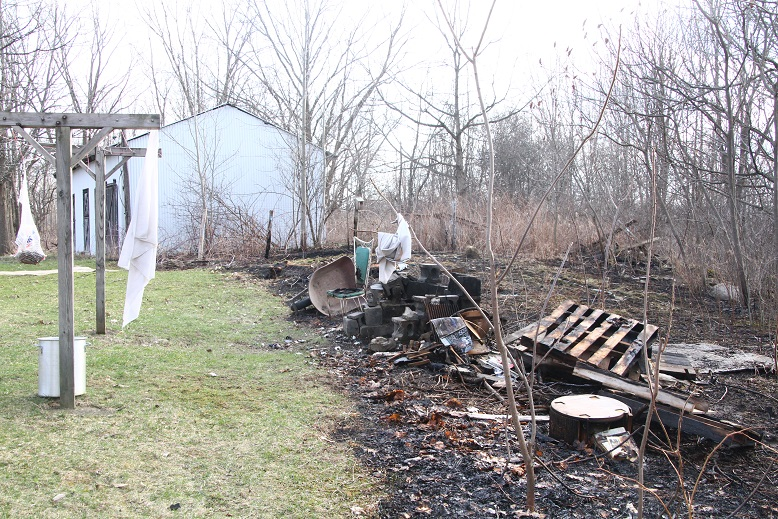 Grass Fire Burns Backyard in Nunda