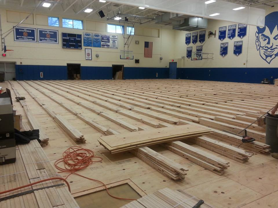 Geneseo Central Gives Bottom-Up Makeover to Gym Floor