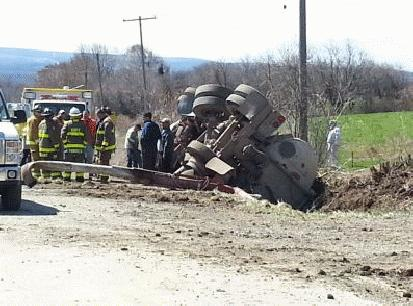 Dangerous Mess as Manure Truck Topples in Castile
