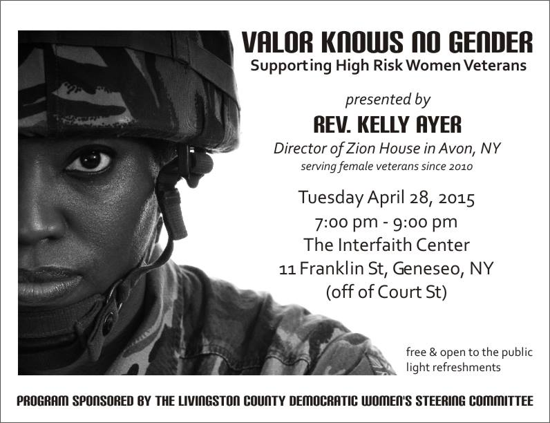 Zion House to Make 'Valor Knows No Gender' Presentation at the Interfaith Center