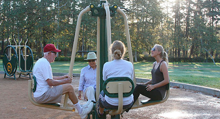 United Way and Sponsors Bring Fun New Fitness Stations to Highland Park