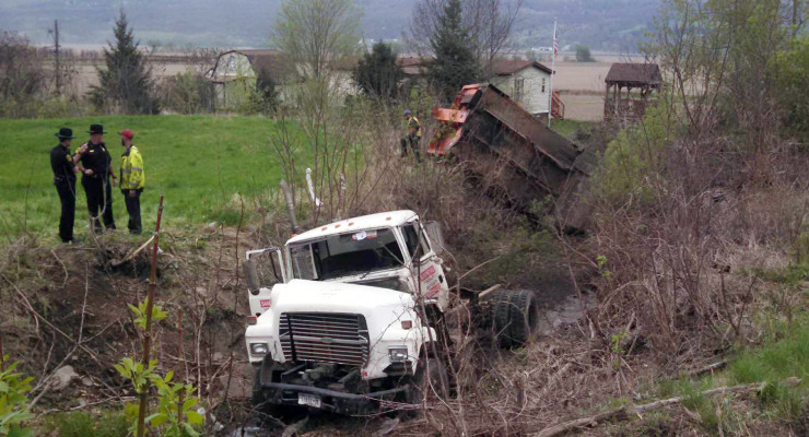 West Sparta Accident Sends Garbage Truck Driver to Hospital with Life Threatening Injuries