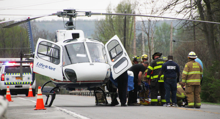 Driver of Garbage Truck Flown from Scene by Life Net Helicopter