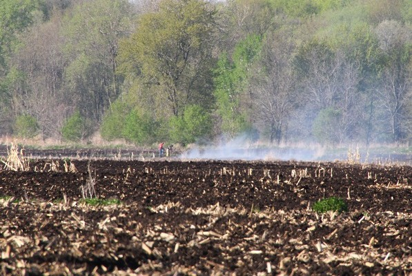 Farmer's Controlled Burn Results in Field Fire