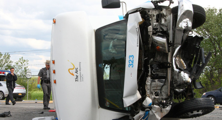 Arc of Livingston-Wyoming Bus and SUV Collide on 390