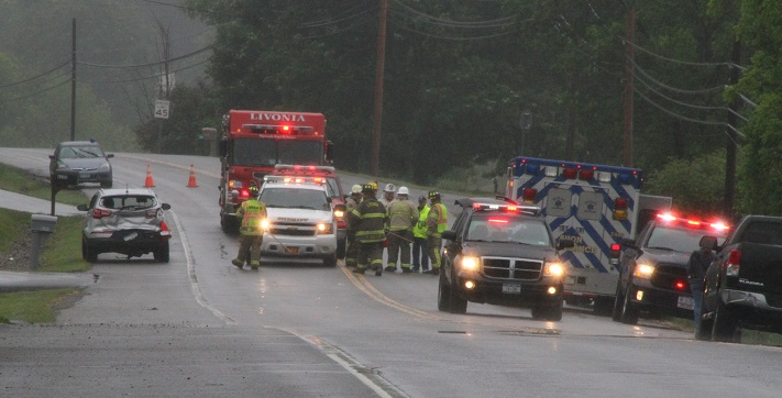 Rear-End Collision Injures One Near Conesus Nursing Facility