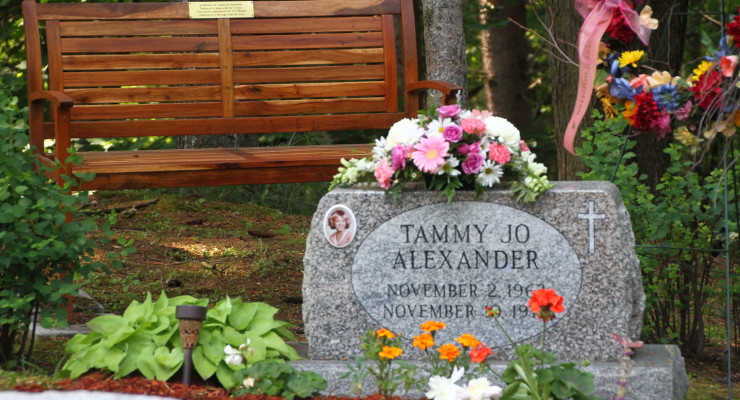 Tammy Jo Alexander's Family Expresses Gratitude at Monument Dedication