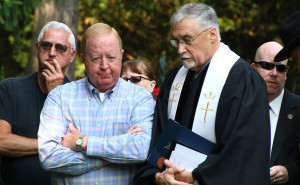 Former Sheriff York at the graveside ceremony. (Photo/ Conrad Baker)