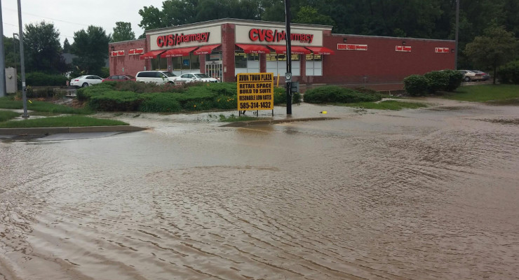 Third 100 Year Flood Slams Avon Within 2 Years