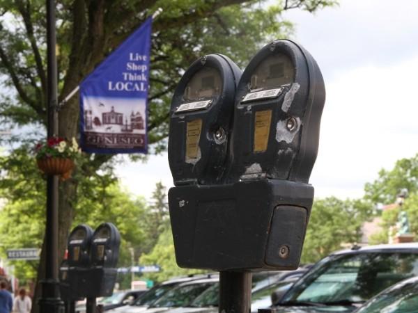 A Main Street Geneseo Parking Meter. (Photo/Conrad Baker)