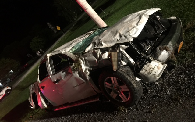 Groveland Driver Rolls Car Through Utility Pole, Arrested for DWI