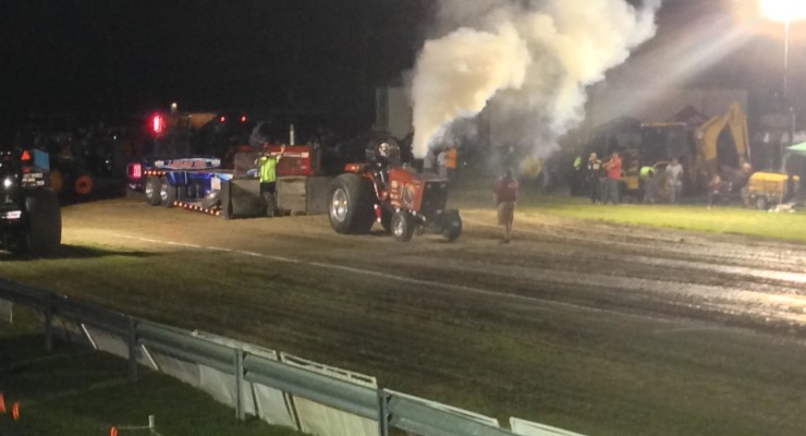 Everman Family Continues Going Strong in Dansville Tractor Pull