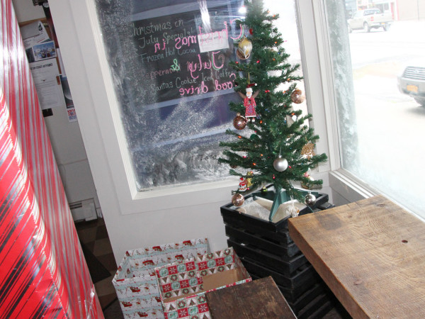 The window display at Cricket's Coffee. (Photo/Josh Williams)