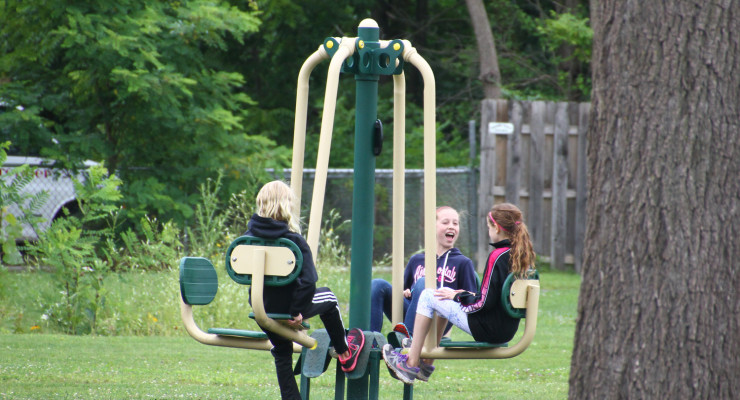 Outdoor Fitness Stations Up and Running at Geneseo's Highland Park