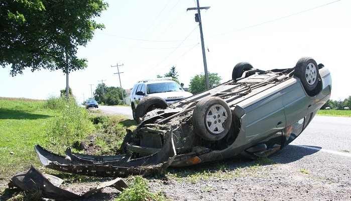 Teen Walks Away from East Avon Rollover