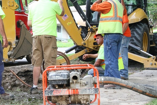 Emergency Repairs by Big Dig Crew Shuts Down County Building's Water