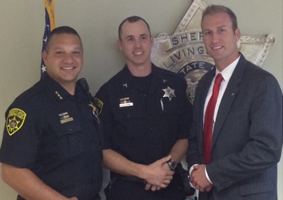 Sheriff's Office Congratulates Enduring Freedom Vet on Promotion at Jail