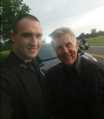 Geneseo Police Officer Surprised to See Tv Host John Walsh