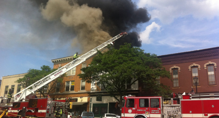 Fire Erupts Behind Kelly's Saloon, Multiple Buildings Evacuated