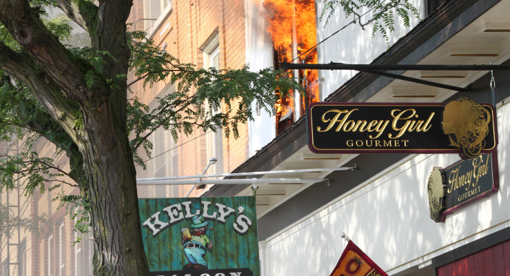 Massive Damage as Kelly's Fire Rips Through Building
