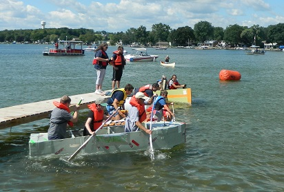 Recycled Boats Set Sail in Livonia's First 'Anything Floats' Regatta