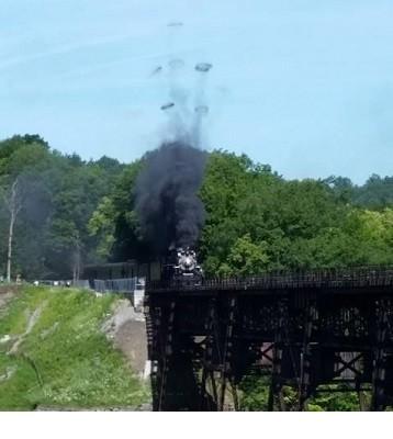 Authentic Steam Train Chugs Through Letchworth