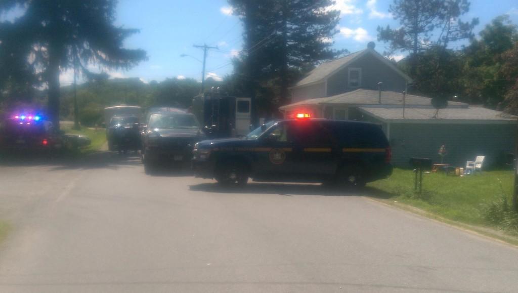 The crime scene on Meter Road.