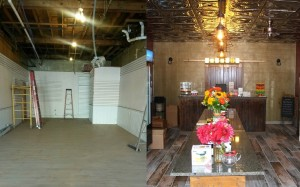 Before and after at 65 Main, from Sept. 7 to Sept. 25. (Photo/Conrad Baker)