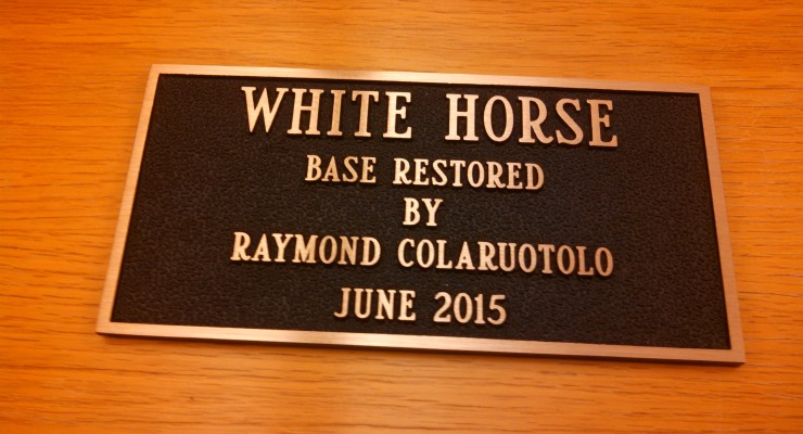 Plaque to Cap Avon White Horse's New Shoes