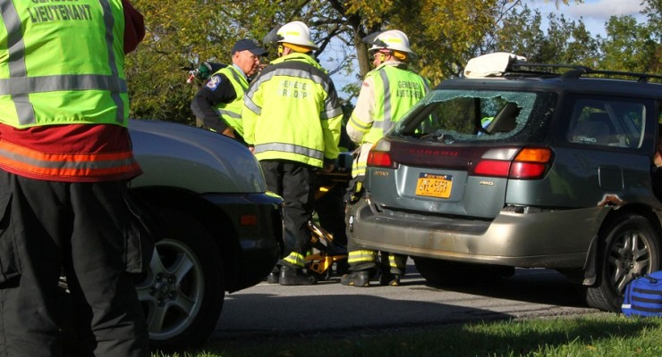 Two Toddlers Go to Hospital After Three-Car Fender Bender on 20A in Geneseo