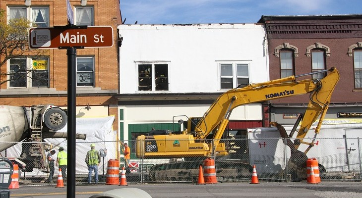 Kelly's Demolition Crew in Place, Structural Demo to Begin Monday