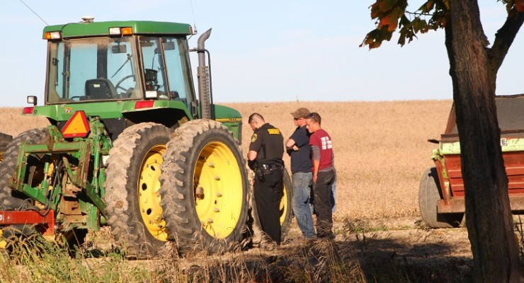 Tractor and SUV Collide in Caledonia