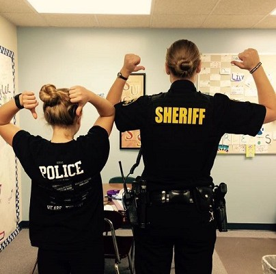Livonia Student Goes 'Superhero/Twin' for New Resource Officer
