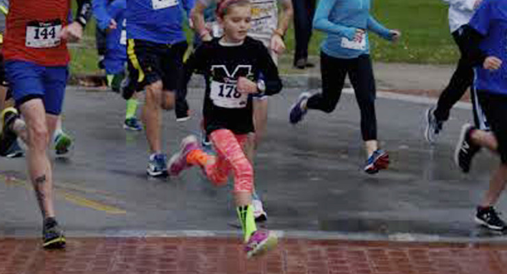 Hail Can't Freeze Spirits of Runners at Friday Knight 5k