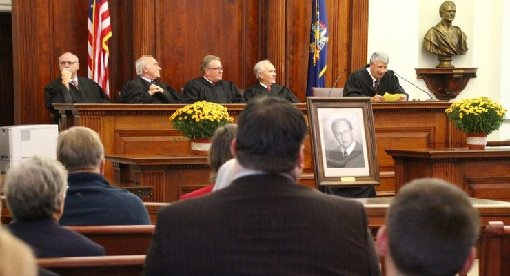 Judge Cicoria's Portrait Joins the Greats at County Courthouse