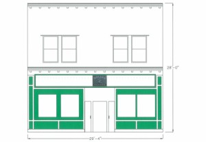 The Proposed facade. (Image courtesy of the Village of Geneseo Planning Board)