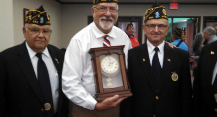 Retiring American Patriot Frank Hollister Tearfully Accepts Livingston County's Honors