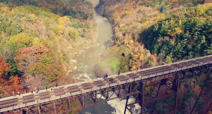 Spectacular Fall Aerial Footage of Letchworth State Park