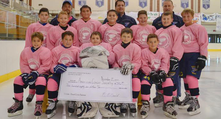 Livingston Blues Squirt Team Raises $386 for American Cancer Society