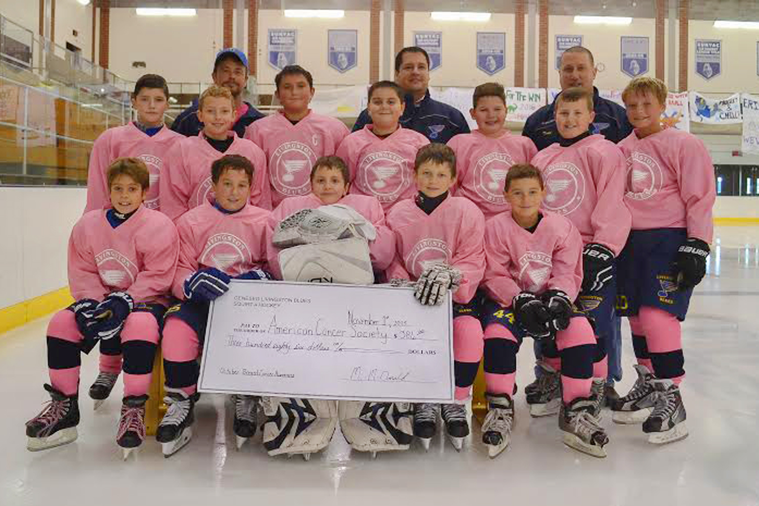 hot sales ce3a6 fc065 Livingston Blues Squirt Team Raises $386 for American Cancer ...