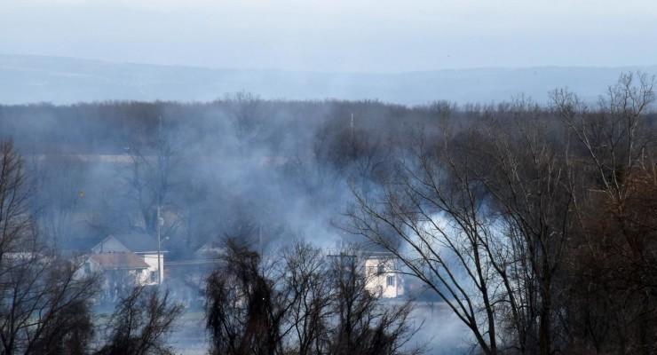 High Winds Cause Concern Over Brush Fire in Leicester