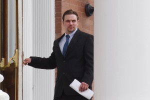Paul Baker leaving court after being arraigned. (Photo/ Josh Williams)