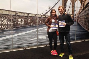 Tim and Jessica Chichester just prior to the New York City Marathon. (Photo Provided)
