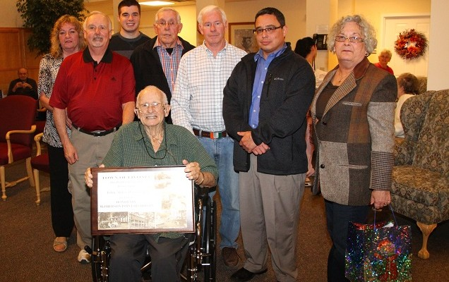 Livonia Thanks John Woodruff as Honorary McPherson Point Historian