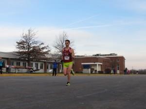 Ben Gajewski at the finish. (Photo/ Livonia Turkey Trot Facebook Page)