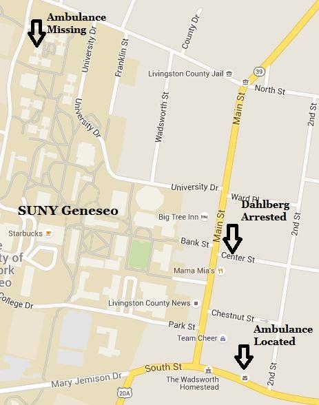 Drunk SUNY Geneseo Student Swipes and Joyrides Ambulance Through Village