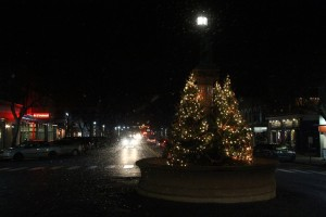 Main Street Geneseo on Friday. (Photo/Conrad Baker)