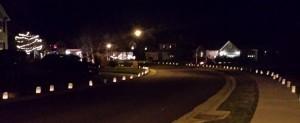 Luminaries on Bridge Circle. (Photo/ Emily Cushing Cosimano)