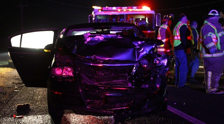 Car Rear-Ends SUV at Mount Morris Gas Station