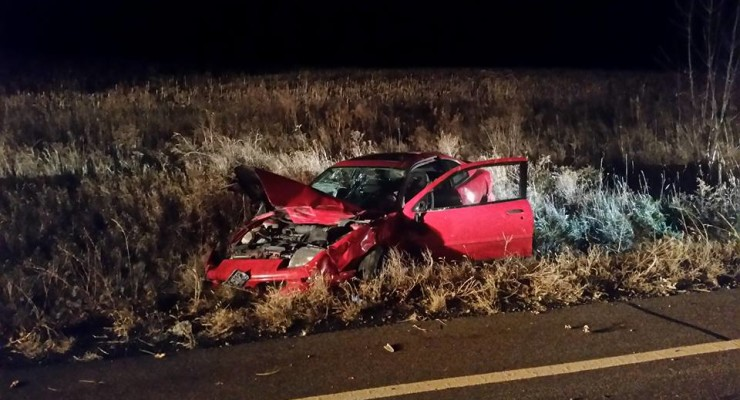 Driver Escapes Crash into Deep Ditch in Avon
